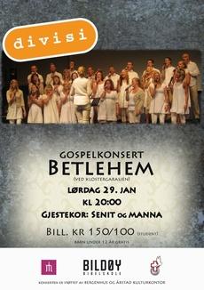 Gospelkonserter i Bergen og Norheimsund